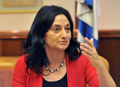 Minister of Agriculture and former Knesset Member Orit Noked, currently an external director of cannabis Cannbit (Photo: Flash 90)