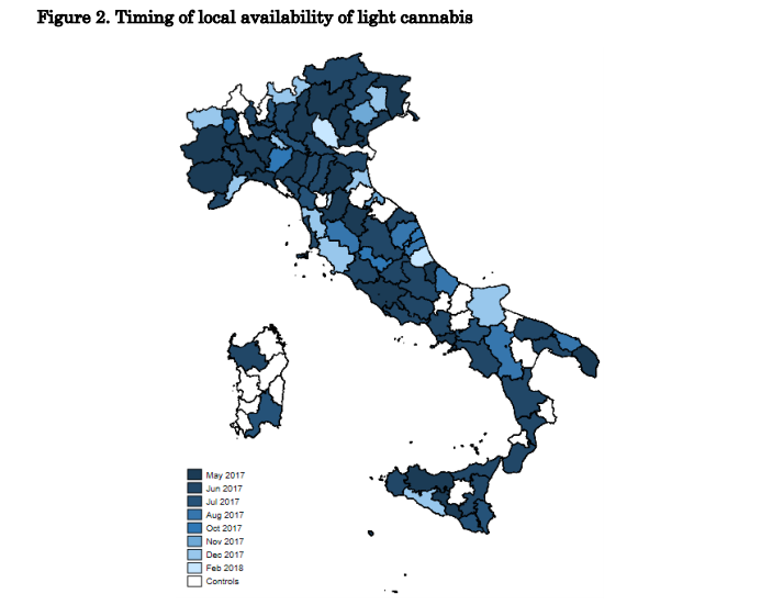 מכירות קנאביס לייט באיטליה