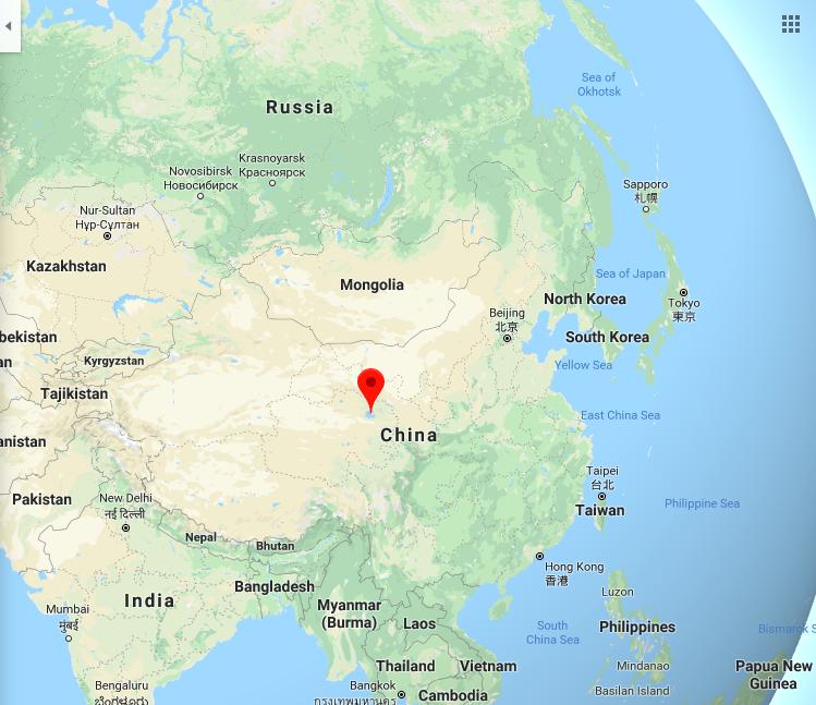 אגם קינגאי, סין, על גבול טיבט - מקורו של צמח הקנאביס?