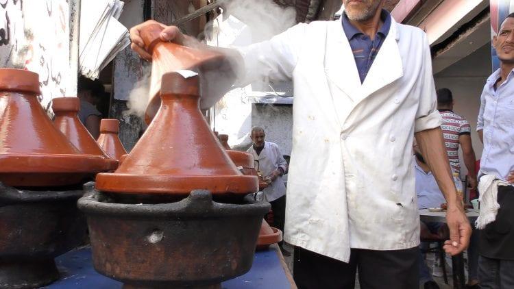 Tagine sur l'un des marchés marocains
