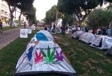 מאהל מחאת קנאביס תל אביב