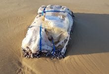 Hashish bag on Ashdod beach