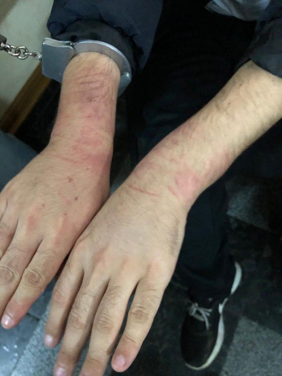 עמוס סילבר לאחר מעצרו באומן על ידי כוחות השירות החשאי של אוקראינה