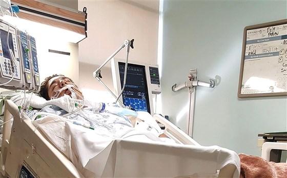 """פביאן קסטילו, בן 19 מארה""""ב, הוא אחד מרבים שאושפזו עם נזק חמור לריאות בעקבות צריכת מחסניות אידוי בלתי חוקיות"""