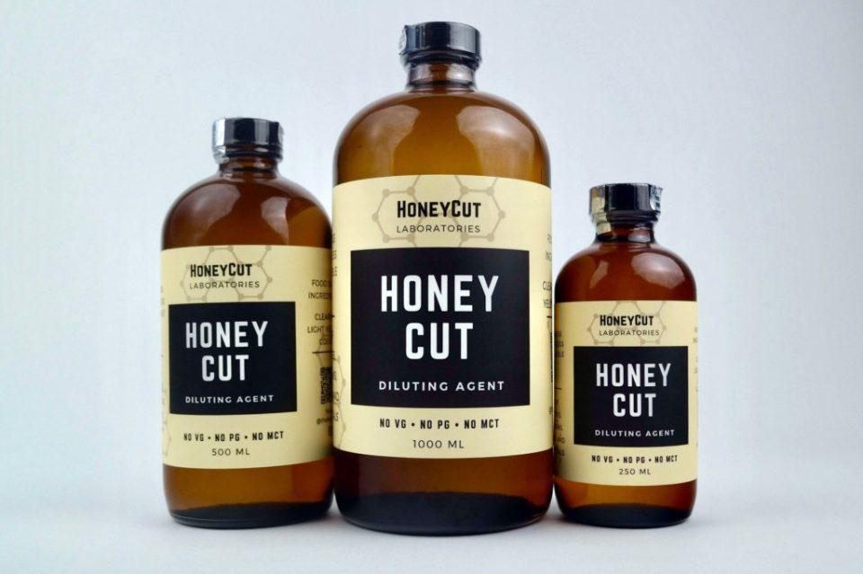"""ה-""""Honey Cut"""" ('דילול הדבש') מבוסס הויטמין E נמכר באינטרנט בחופשיות ומשווק באופן ייעודי עבור דילול מחסניות שמן קנאביס"""