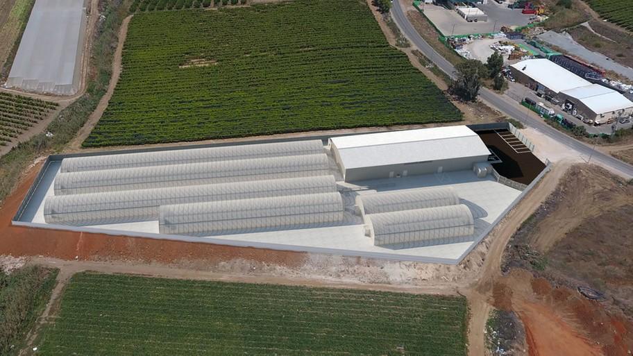 חממות חברת קנאמדיק (טבע אדיר) במושב פתחיה (תמונה: באדיבות החברה)