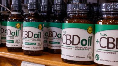 מוצרי CBD בקבוקי שמן CBD