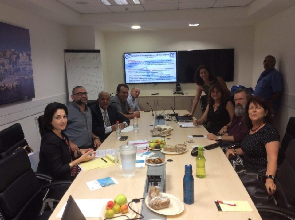 פגישה בין אנשי ה-INCB לאנשי הרשות למלחמה בסמים בירושלים, יולי 2016