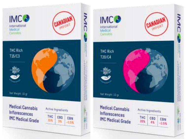 אריזות קנאביס IMC ייבוא קנדה