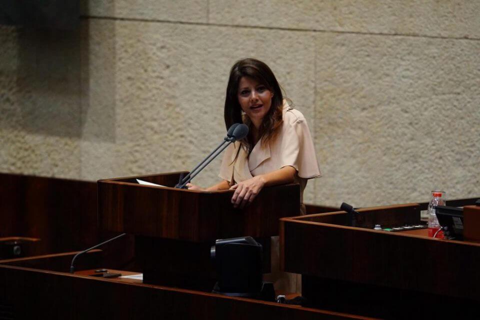 השרה אורלי לוי - בעד לגליזציה (צילום: עדינה ולמן, דוברות הכנסת)