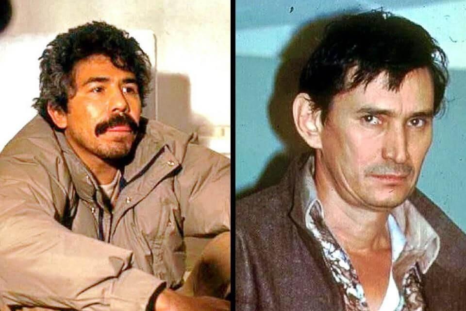 מיגל אנחל פליקס גאיארדו (ימין) ורפאל קארו קינטרו (שמאל), המייסדים של קרטל גוודלחרה